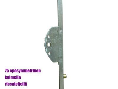 Parvekeoven pitkäsulkija rissateljillä 1800mm, epäsymmetrinen