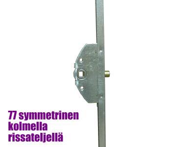 Parvekeoven pitkäsulkija rissateljillä 1800mm, symmetrinen