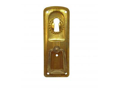 1920-luvun lenkkivedin avaimenreiällä, pysty, messinki