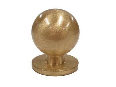 Pallonuppi 25mm messinki/harjattu
