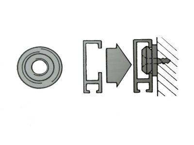 Seinäkiinnitinnasta taulu/verhokiskoon